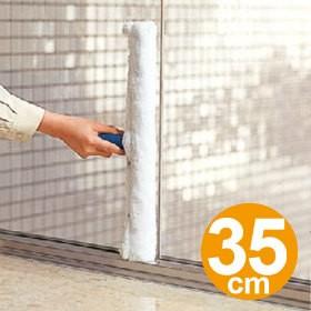 水塗りモップ ガラス清掃用 モイスチャーリント 35cm