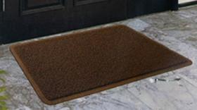 玄関マット(アウトドア用) ブラウン 60×90(cm)