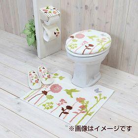 トイレタリー2点セット 洗浄フタカバー&トイレマット バード
