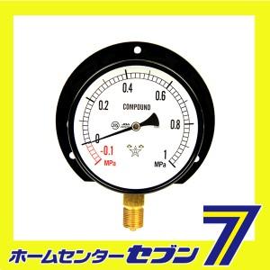 汎用圧力計B100・G3/8 S42・+1X-0.1MPA   右下精器製造  [電動工具 エアーツール 圧力計 機器]