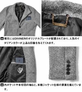 ◆送料無料◆ジャケット メンズ テーラードジャケット イタリアンジャケット ブークレ ウール ジャケット 長袖 ネイビー trend_d DIVINER