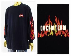 ドリームチーム DJ RYOW プロデュース 【dreamteam.jp】 ファイヤー TシャツL/S メンズ DREAM TEAM 【DT-200FLAZE RD】
