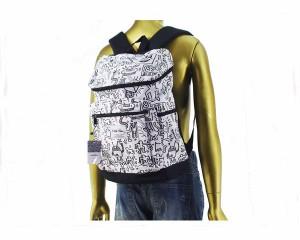 キースヘリング 鞄 リュック デイパック ノートPCやタブレットを衝撃から守るクッション付き バックパック メンズ KEITH HARING 【KHB-KH