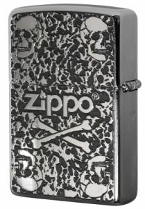 Zippo ジッポー 200 Flat Bottom Metal Paint Plate 2MPP-Skull GY