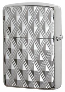 Zippo ジッポー 銀100ミクロン彫刻アーマー ダイアゴナル