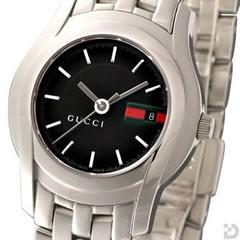グッチ YA055514 5500L 腕時計 ブラックGRG文字盤