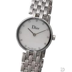 Dior バキラ 12Pダイヤ ホワイトシェル文字盤