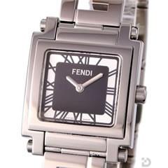 フェンディ 6050 FFメタルバンド ブラック文字盤