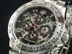 【J.HARRISON】フルスケルトン自動巻き腕時計JH003-RB