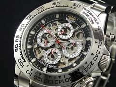 J.HARRISON/フルスケルトン自動巻き腕時計JH003-BW