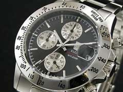 【エルジンELGIN】センタークロノグラフ腕時計FK1184S-B