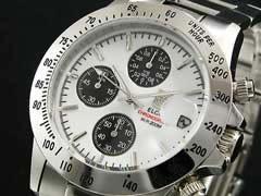 【エルジンELGIN】センタークロノグラフ腕時計FK1184S-W