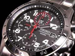 【SEIKOセイコー】ミリタリークロノグラフ腕時計SND375P1