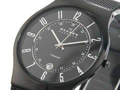 スカーゲン SKAGEN 腕時計 ウルトラスリム チタン 233XLTMB【送料無料】