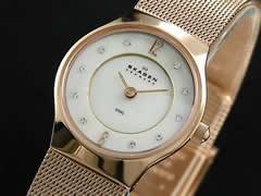 スカーゲン SKAGEN 腕時計 ウルトラスリム レディース 233XSRR【送料無料】