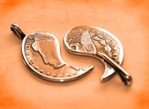vintage coin works モルガン(モーガン)1$ペアペンダントヘッド