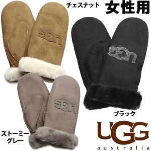 アグ シープスキン ヘリテージ ロゴ ミトン 女性用 UGG1089934 レディース 冬物手袋 防寒(2264-0059)