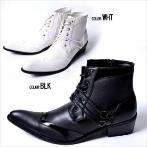 BOREDOM【ボアダム】レースアップ ショートブーツ /全2色【*】(ブラック/ホワイト) メンズ