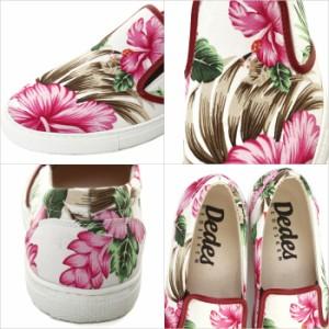 DEDES【デデス】花柄ホワイトソールスリッポン スニーカー /全2色(ネイビー/ホワイト) メンズ