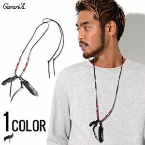 CavariA【キャバリア】フェザー型押し ネックレス /全1色 trend_d メンズ ビター系