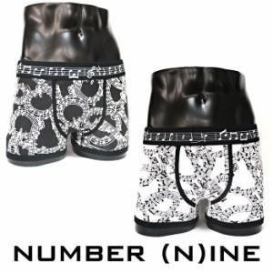 NUMBER (N)INE ナンバーナイン アンダーウェア 五線譜 ボクサーパンツ 男性下着 メンズ トランクス