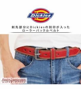 Dickies 40mm バイカラーベルト ディッキーズ メンズ レザーベルト 紳士ベルト カット可 ローラーバックル ビジネス