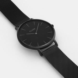 CLUSE クルース La Boheme ラ・ボエーム 腕時計 ユニセックス 38mm ステンレス ブラック メッシュ シンプル エレガント CL18111