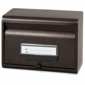 再入荷★ きれいなエンボス加工の郵便ポスト 鍵穴付き(エンボスブラウン) #27