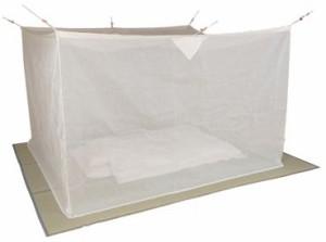 麻混素材 寝室用かや(片麻 生成り)4.5畳★代引/同梱/返品不可★#07