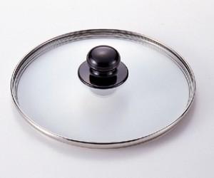 ワンダーシェフ圧力鍋 3L専用ガラス蓋18cm 蒸気抜け穴付き#10