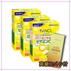 ★純正品/送料無料★コットンコフレ+ファンケル どこでもビタミンC&B  1箱(4袋)×3((4袋)×3)