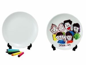 おもしろインテリア雑貨 絵やメッセージが描けるオリジナル食器 レインボーキット プレート SAN1476