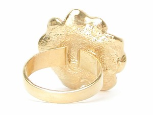 【送料無料】控えめストーン ひらひらボルドービックローズゴールドアンティーク系リング【スワロフスキー指輪/フラワー/ワインレッド】