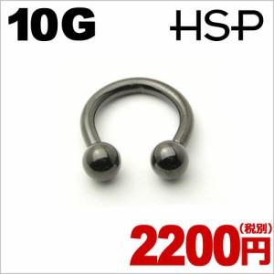 ブラックチタンプレート サーキュラーバーベル 10G【ボディピアス/ボディーピアス】c059