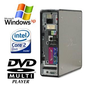 中古パソコン 新品フルHD LEDバックライト液晶 23.0型付き DELL Optiplex 745SFF Core2Duo 2GBメモリ DVDSマルチ 新品キーボード・マウス