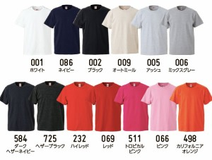 5.6オンス ハイクオリティーTシャツ#5001-01 (S M L XL) 半袖 ユナイテッドアスレ UNITED ATHLE 上質 丈夫 無地 sst-c