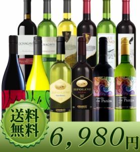 世界各国デイリーワイン 赤白12本セット【送料無料】ミックスS