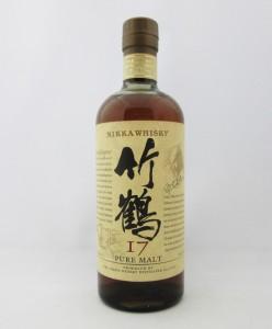 【旧ボトル】アサヒ ニッカ ウイスキー 竹鶴 17年 ピュアモルト 43度 700ml (箱なし)