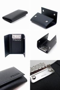プラダ キーケース PRADA キーリング 6連 NERO 黒 サフィアーノレザー 2PG222-PN9-F0002【lug_b】【lug_new】【lug_pic】