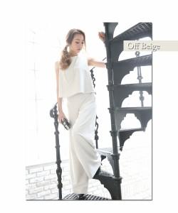 平子理沙着用セットアップパンツドレス パーティードレス レディース 結婚式 フォーマル 大人 体型カバー パーティ 二次会 入学式 謝恩会