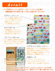 【 スマホケース MO-01J 】ドコモ モノ MONO MO-01J 手帳型スマホケース スイカ bn207 横開き (ドコモ MONO MO-01J モノ)
