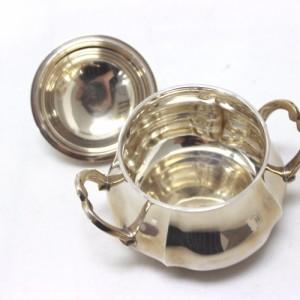 あす着 クリストフバッハ工房 ティーセット 4点 ミネルバ 銀製 洋食器 銀/ウッド Christoph Bach