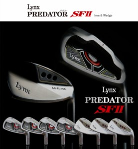 リンクス プレデター SF2 7本 アイアンセット(#6-SW)オリジナルカーボンシャフト [Lynx Predator]【■Ly■】
