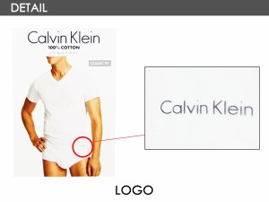 カルバンクライン(Calvin Klein) コットン クラシック Vネック半袖 Tシャツ 3パックアンダーウェア メンズ男性下着[AA]