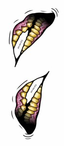 costume【コスチューム】 ビッグマウスタトゥー(2 Faced)/衣装 仮装 ハロウィン 小道具 パーティーグッズ コスチューム コスプレ セット