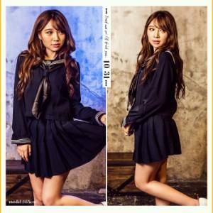 【即納】セーラー服 コスプレ セーラー服3点セット  ハロウィン 衣装 可愛い 大きい コスプレ セクシー 制服
