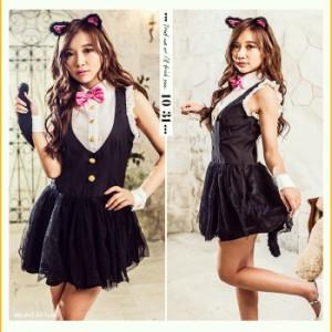 【即納】costume【コスチューム】ミルキーキャット 4点セット ハロウィン 衣装 可愛い 大きい コスプレ セクシー