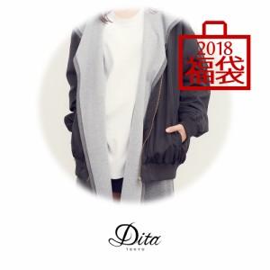 即納 送料無料【アウター×1、トップス×2、シューズ×1の合計4点入り】Dita レディース 2018年福袋