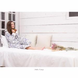 SALE 送料無料 もこもこ花柄ルームウェア上下セット/全3色 部屋着 ナイトウェア パジャマ 花柄 ジェラピケ もこもこ