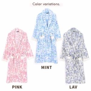 SALE 送料無料 もこもこ花柄ルームウェアガウン ルームウェア もこもこ パジャマ レディース 部屋着 暖かい もこもこ 長袖